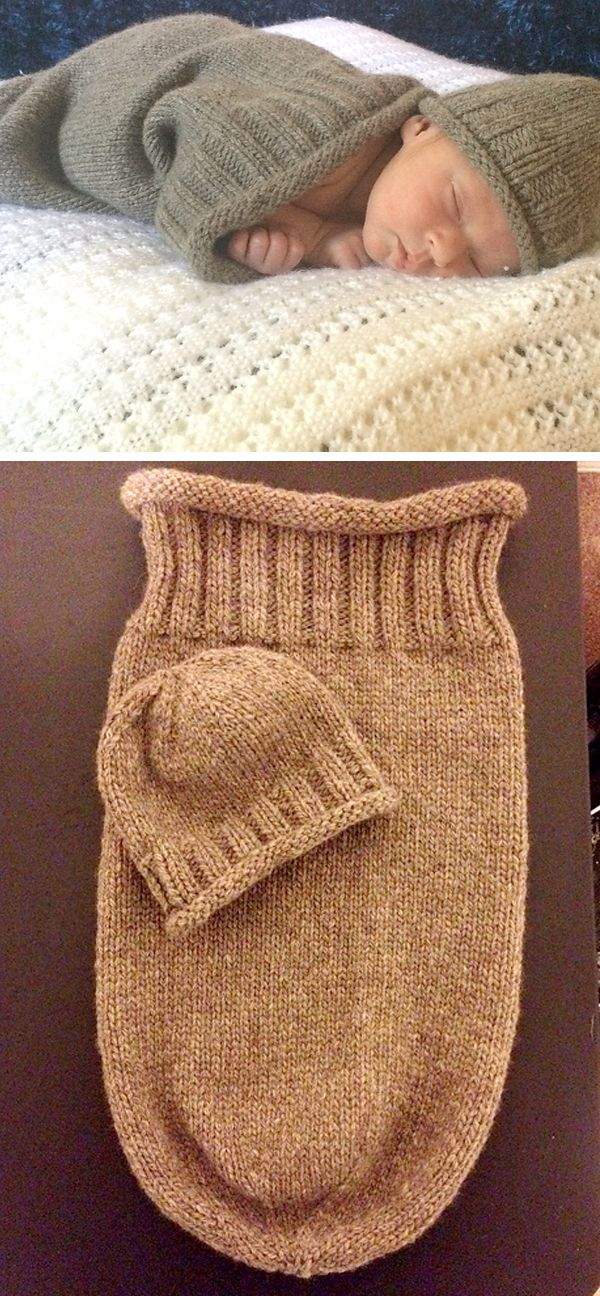 Sleep Sack - Free Pattern  #freeknittingpatterns