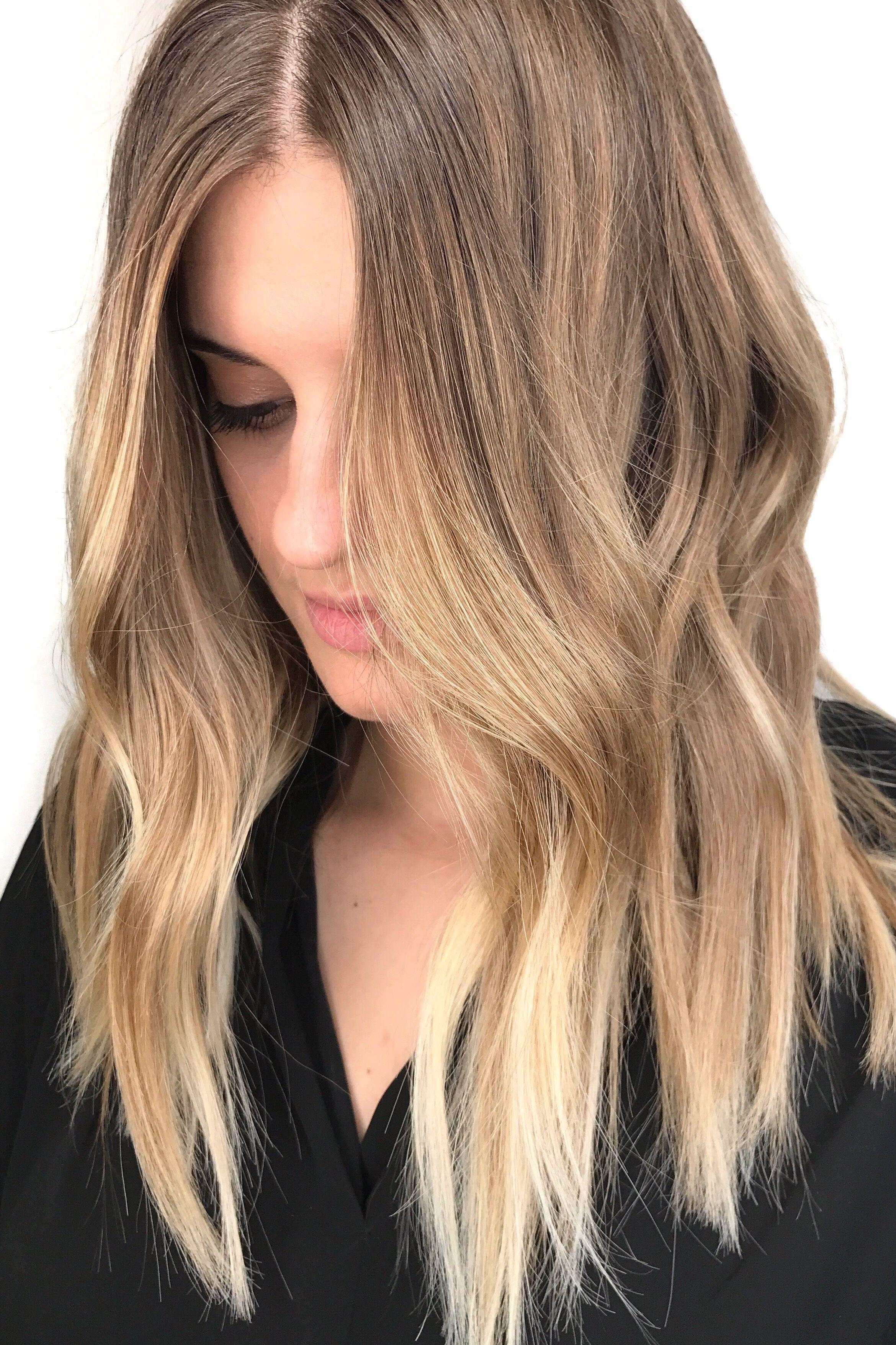 blonde balayage ; natural blonde highlights ; sun kissed hair color ...