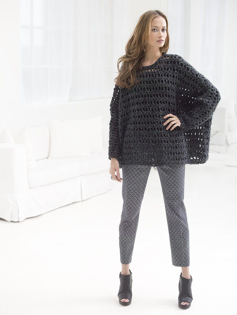 Popover Top (Crochet) | Sew and Stitch | Pinterest | Ponchos y Tejido