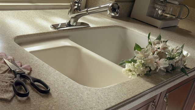 Dupont Corian In Sahara With Corian 874 Sink Bathroom