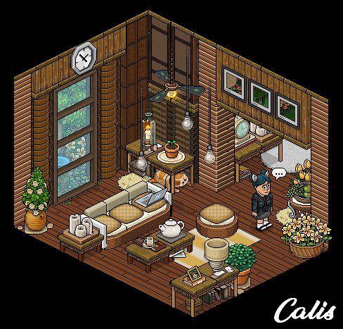Habbo Living Room Ideas Habbo Arte Em Pixels Arte Isometrica