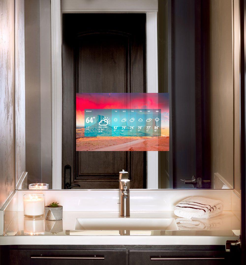Vanity Tv Mirrors Mirror Tv Bathroom Tv Mirror Tv In Bathroom [ 1078 x 1000 Pixel ]