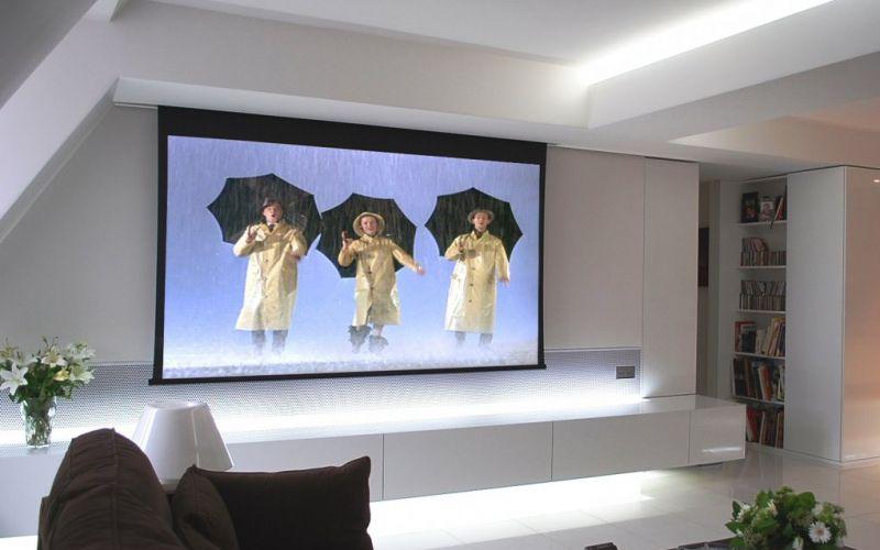 ecran vid oprojecteur salon salle manger ecran. Black Bedroom Furniture Sets. Home Design Ideas