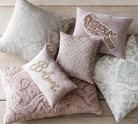 Capra Beaded Applique Pillow Elissa S House Applique