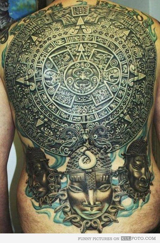 Sol Azteca Tatuaje mexican power putos!! peluche en el estuche! | tattoos | pinterest