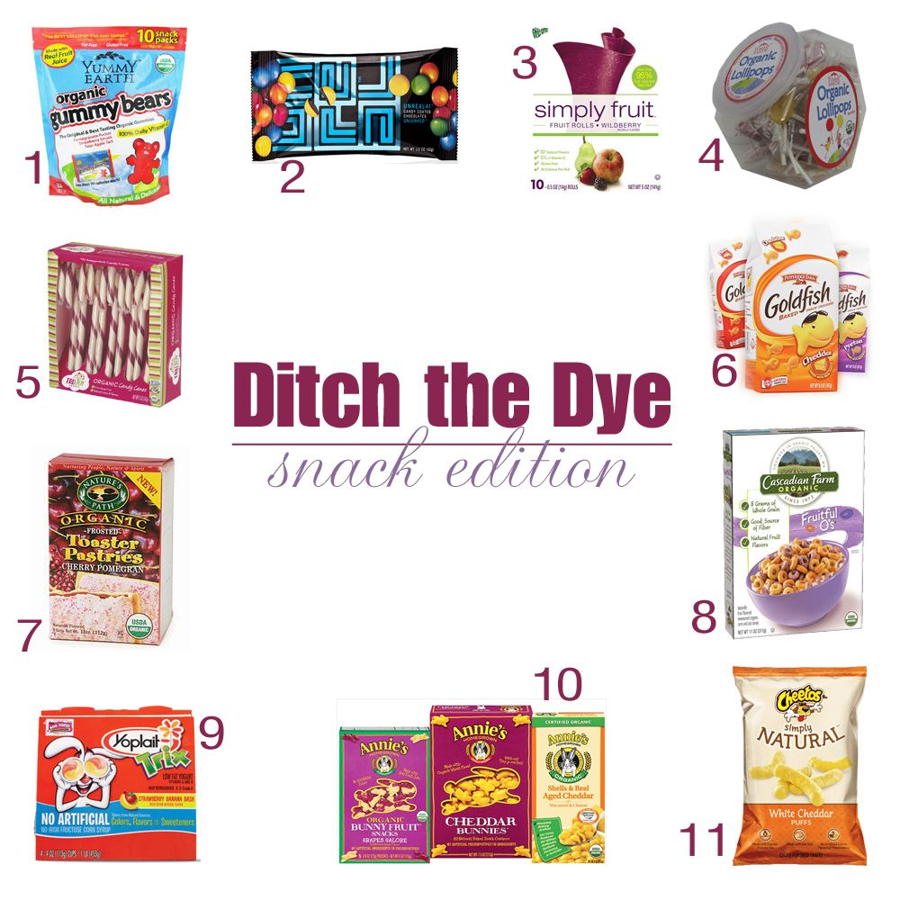 ditch the dyes in your snack foods if you must eat them at least