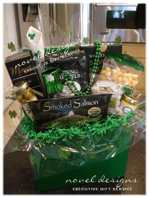 Celebrate St Patty's Day - Custom designed gift baskets for everyday occasions and corporate events. #StPatricksDay