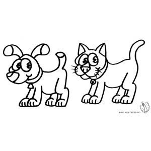 Disegni Da Colorare E Stampare Di Gatti E Cani.Disegno Di Cane E Gatto Da Colorare Disegni Di Cane Disegni Cani