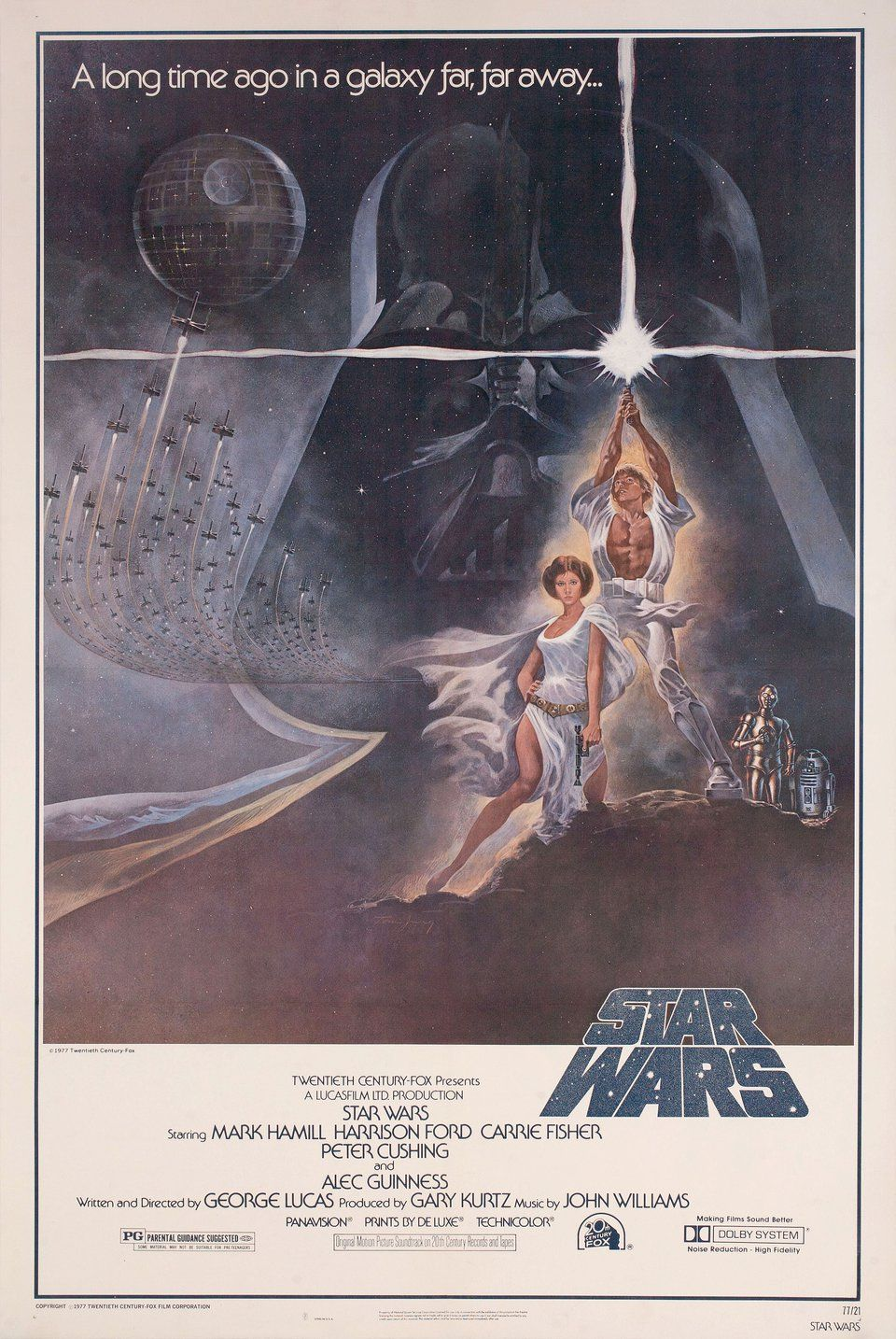 Star Wars 1977 U S  One Sheet Poster in 2019 | Poster | Star wars