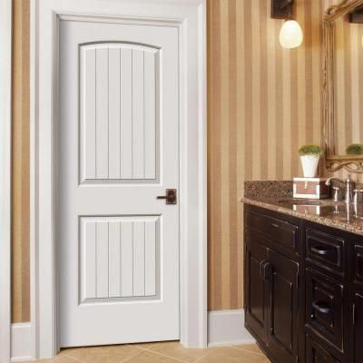 Jeld wen smooth panel arch top  groove solid core primed molded prehung interior door thdjw at the home depot interiordoorslowes also rh pinterest