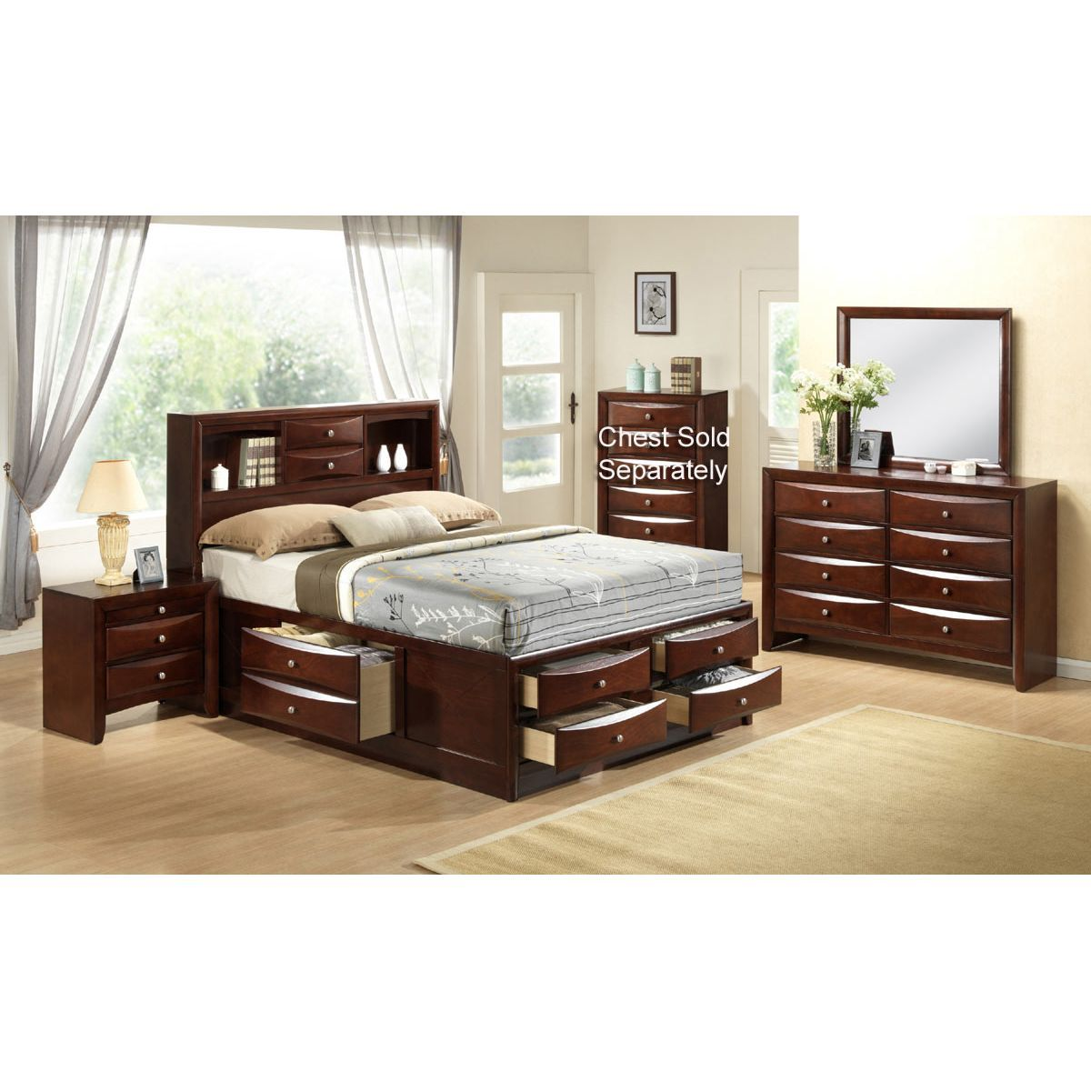 Emily 7Piece Queen Bedroom Set RC Willey Home Furnishings