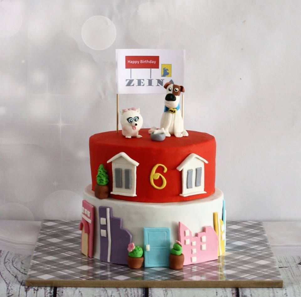 The Secret Life Of Pets Theme Cake Chocolate Heaven And Decadent