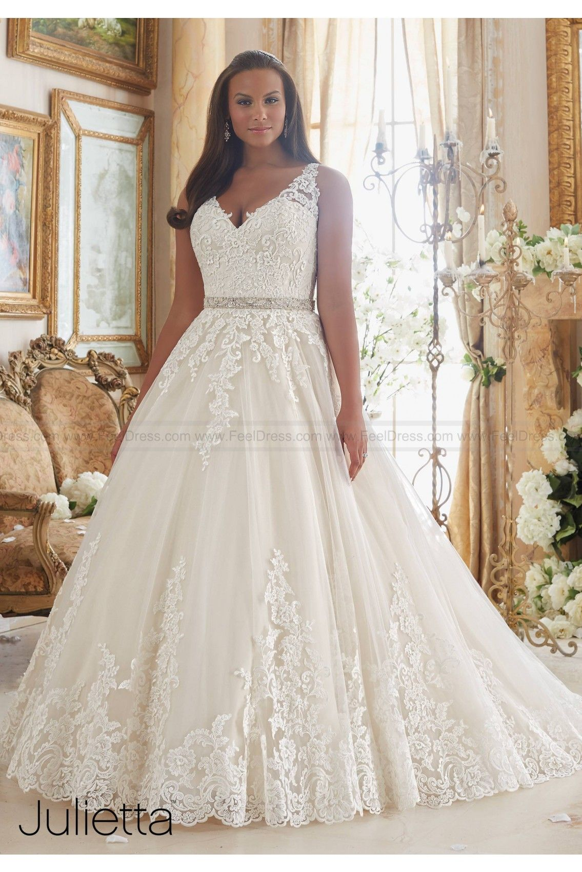 Mori lee wedding dresses style 3208 mori lee pinterest mori wedding dresses plus size wedding dress 3208 embroidered lace appliques on tulle ball gown with scalloped hemline unique wedding dress ombrellifo Choice Image