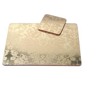 Portmeirion Pimpernel - Damask Gold Placemats Set Of 4 ...