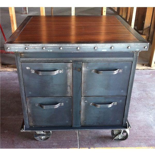 Vintage Industrial 4 File Cabinet
