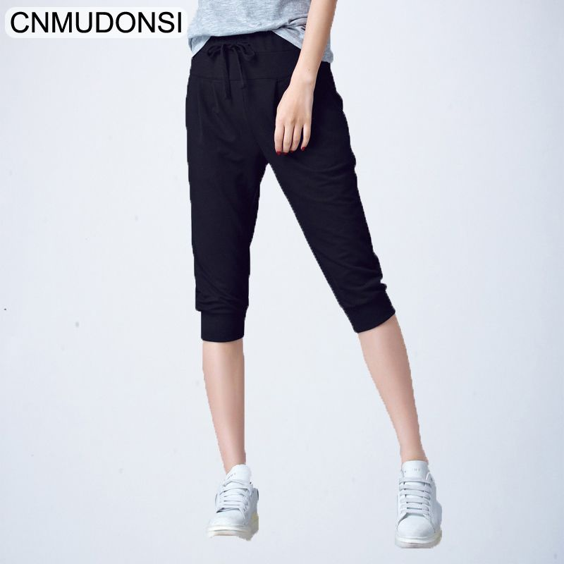 488af2defe33 High Waist Stretch Pants Women Summer Calf Length Harem Pants Large size 5xl  6XL Casual Trouser