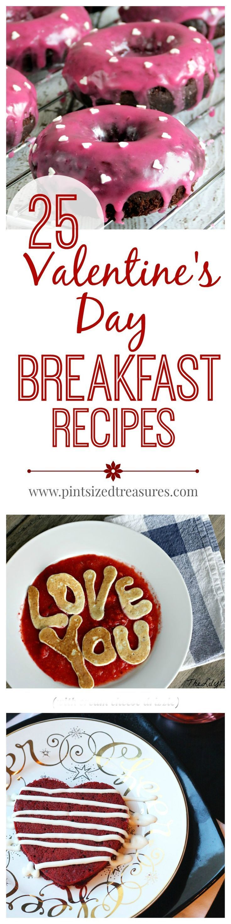 Looking for the perfect Valentine's Day Breakfast recipe? How about 25? These out these breakfast ideas that will make this Valentine's Day the BEST ever!