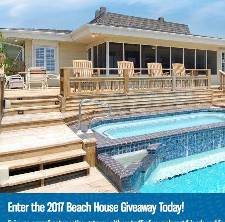 Win one week (7 days/6 consecutive nights) rental of a beach home worth $4,000.00. Submit your contact information to enter.
