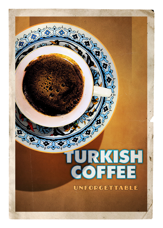 Turkish coffee Poster, Vintage posterler, Türkiye