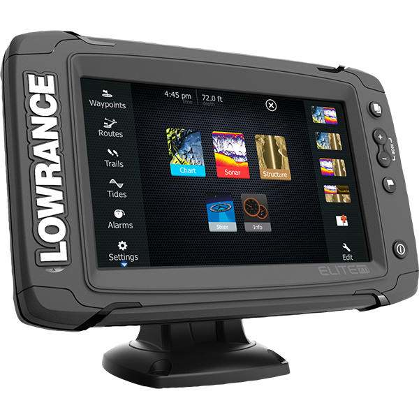 The Lowrance Elite 7ti Is A Touchscreen Fishfinder X2f Chartplotter That Matches High End Functions With Images Satellite Receivers Marine Electronics Screen Protectors