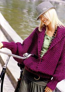 Bergere de France Womens Knitting Patterns Batwing Jacket Knitting Pattern