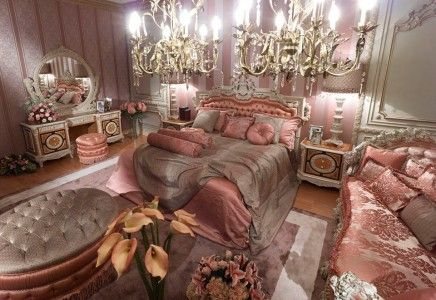 Pink Classic Style Italian Bedroom Top and Best Classic Furniture