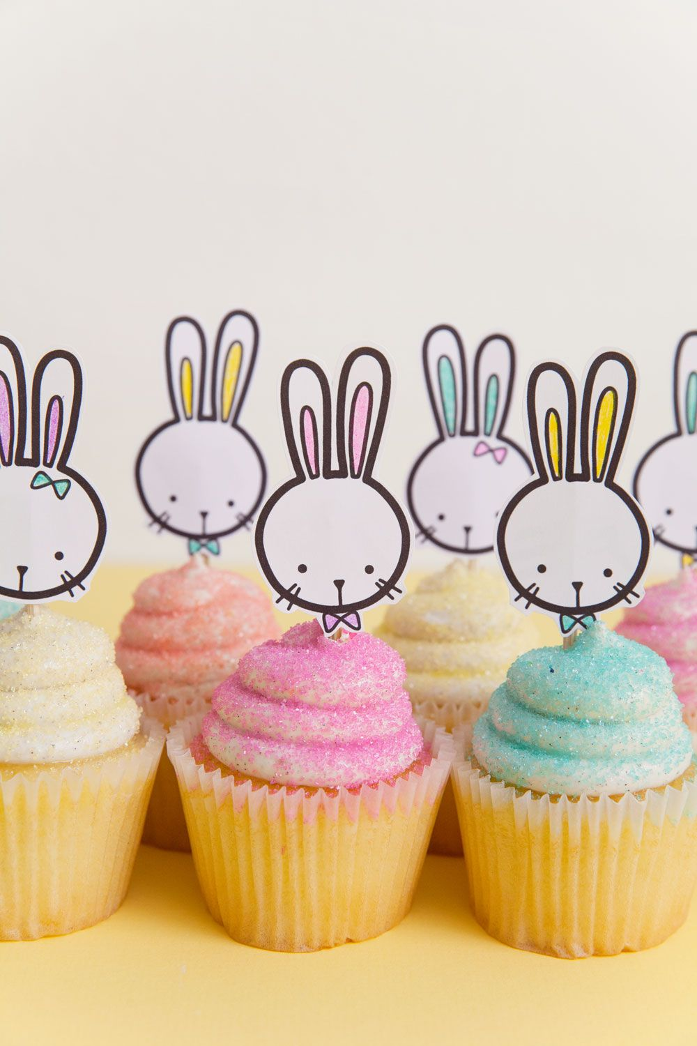 Free printable bunny cupcake topper cupcake toppers free