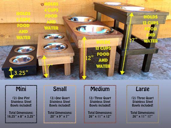 holder feeders pin feeding personalized feeder raised custom pet stand dog elevated bowl