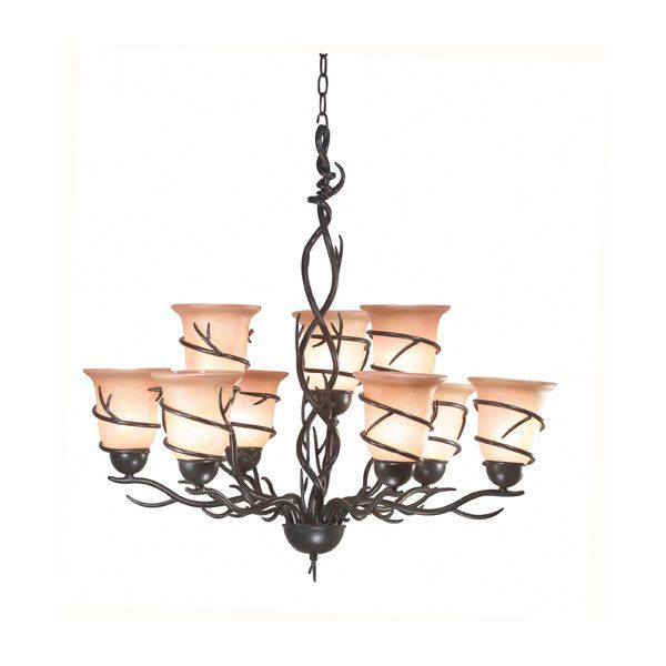 Kenroy home twigs 9 light chandelier 688 found on polyvore kenroy home 9 light twigs chandelier bronze lighting universe mozeypictures Images