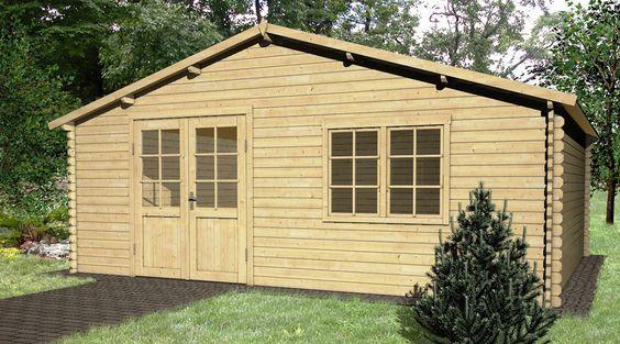 Holz Gartenhaus KIWI B 420 X T 330 Cm, 28 Mm | Garten | Pinterest | Gärten  Und Häuschen
