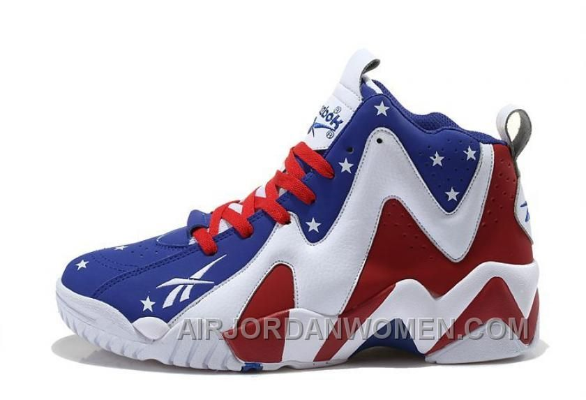 Reebok Kamikaze II Mid Mens Fashion Sneaker Basketball Red Blue White Cheap  To Buy XSf5H 455d365b4