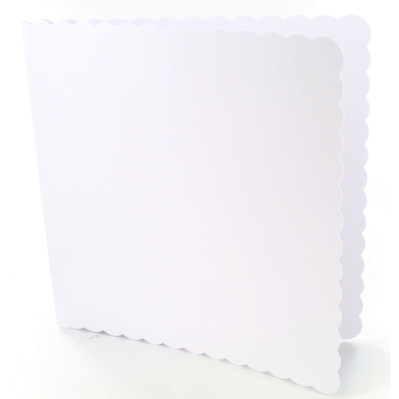 Craft Uk Limited 6 X 6 Inch Scalloped White Cards And Envelopes