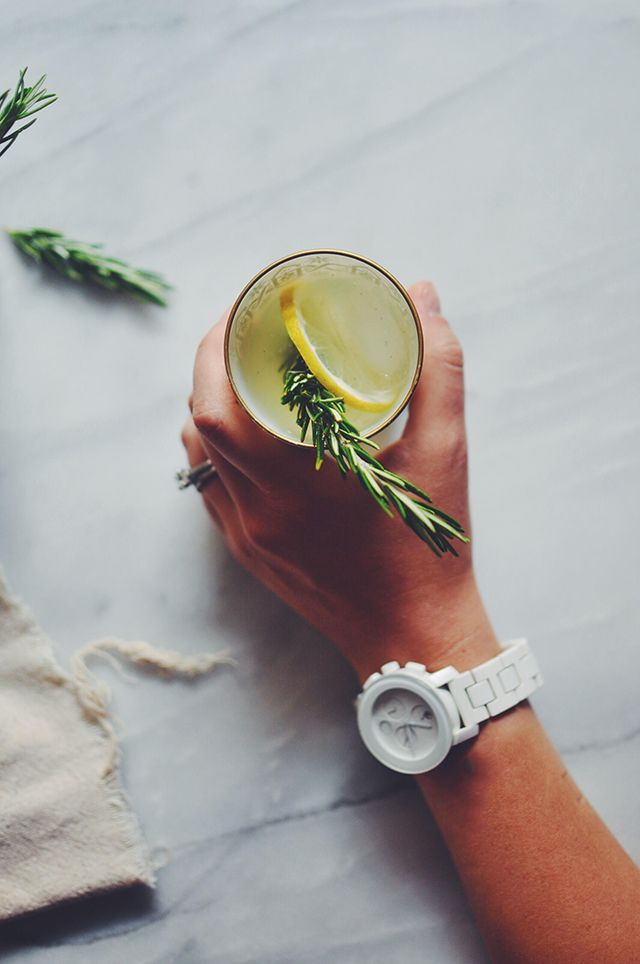 Rosemary Vanilla Bean Lemonade | Turntable Kitchen