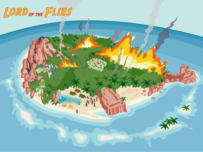 lord of the flies island map project