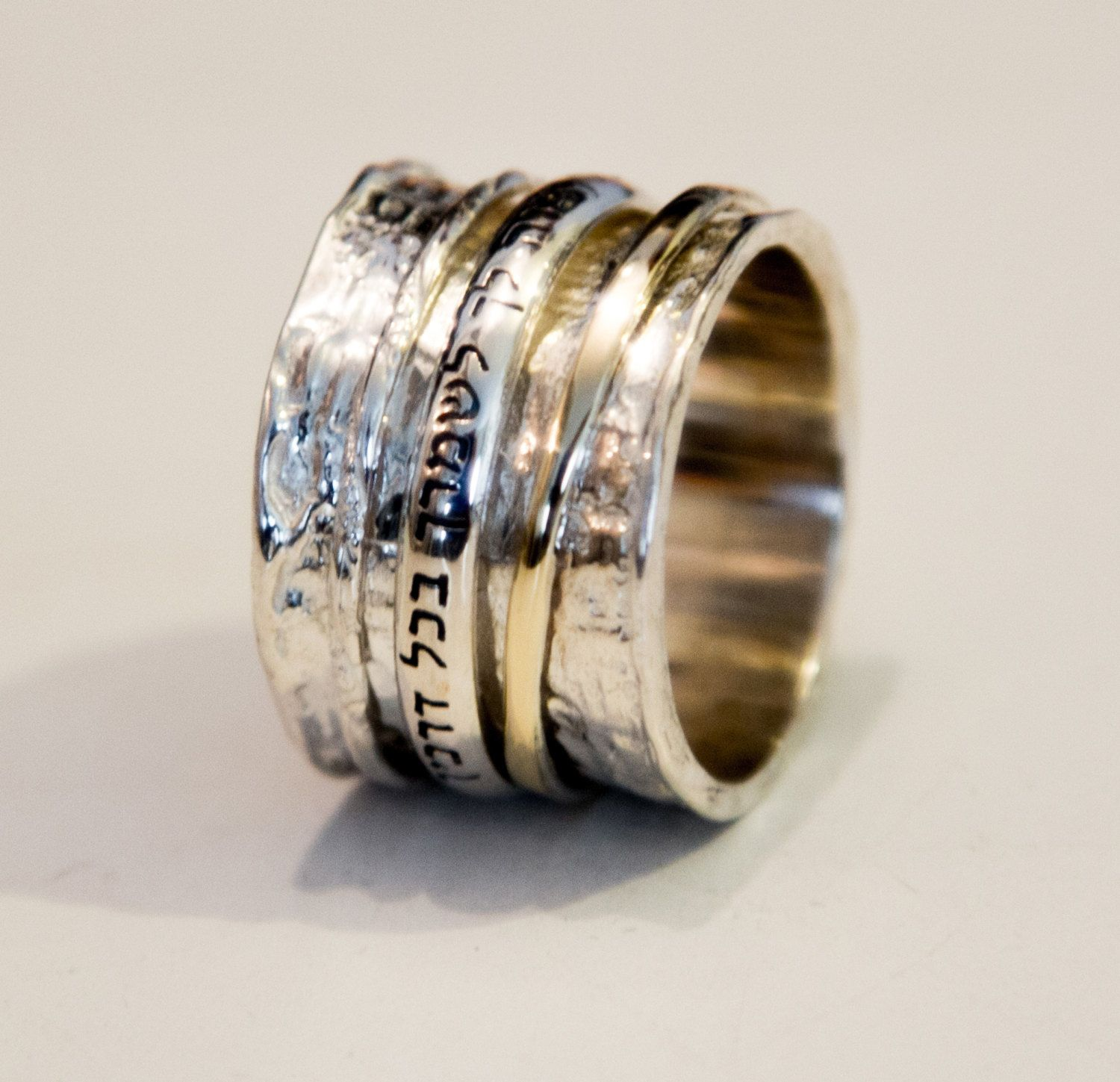 Spinner rings Personalized Hebrew Blessing Ring Hebrew Blessing
