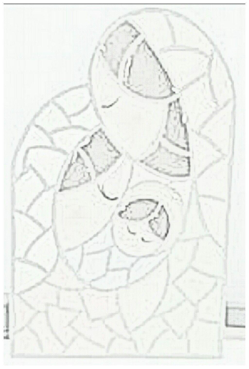 Dibujo Editado En Blanco Y Negro Para Imprimir Sagrada Familia