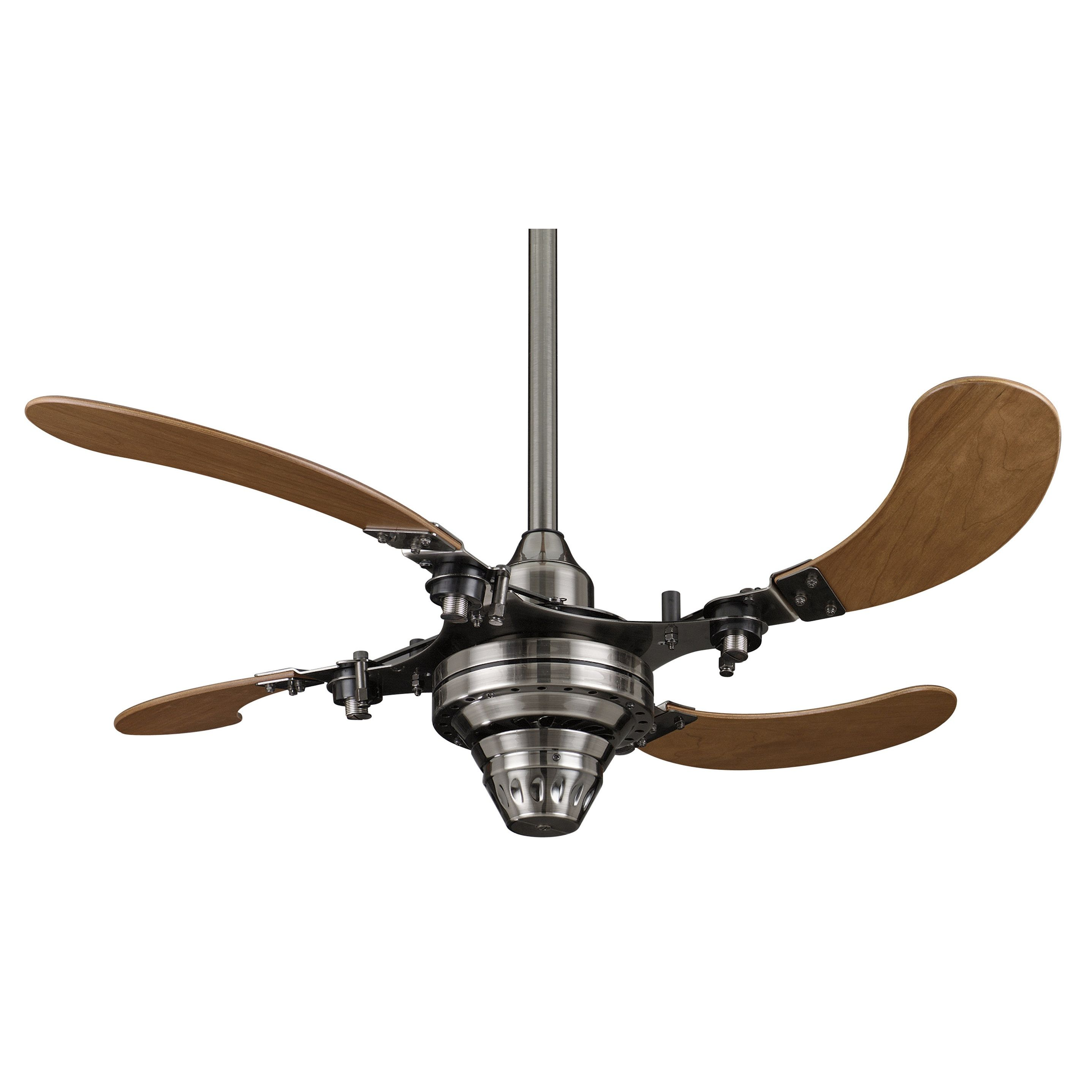 Fanimation Air Shadow 43 inch Pewter Retractable Ceiling Fan by