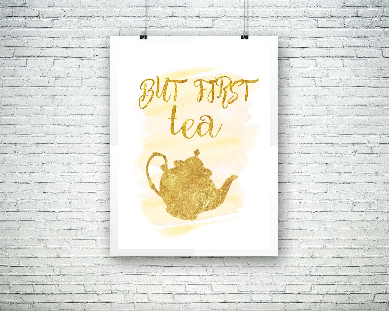 Wall Decor Tea Printable Tea Prints Tea Sign Tea Printable Art Tea ...