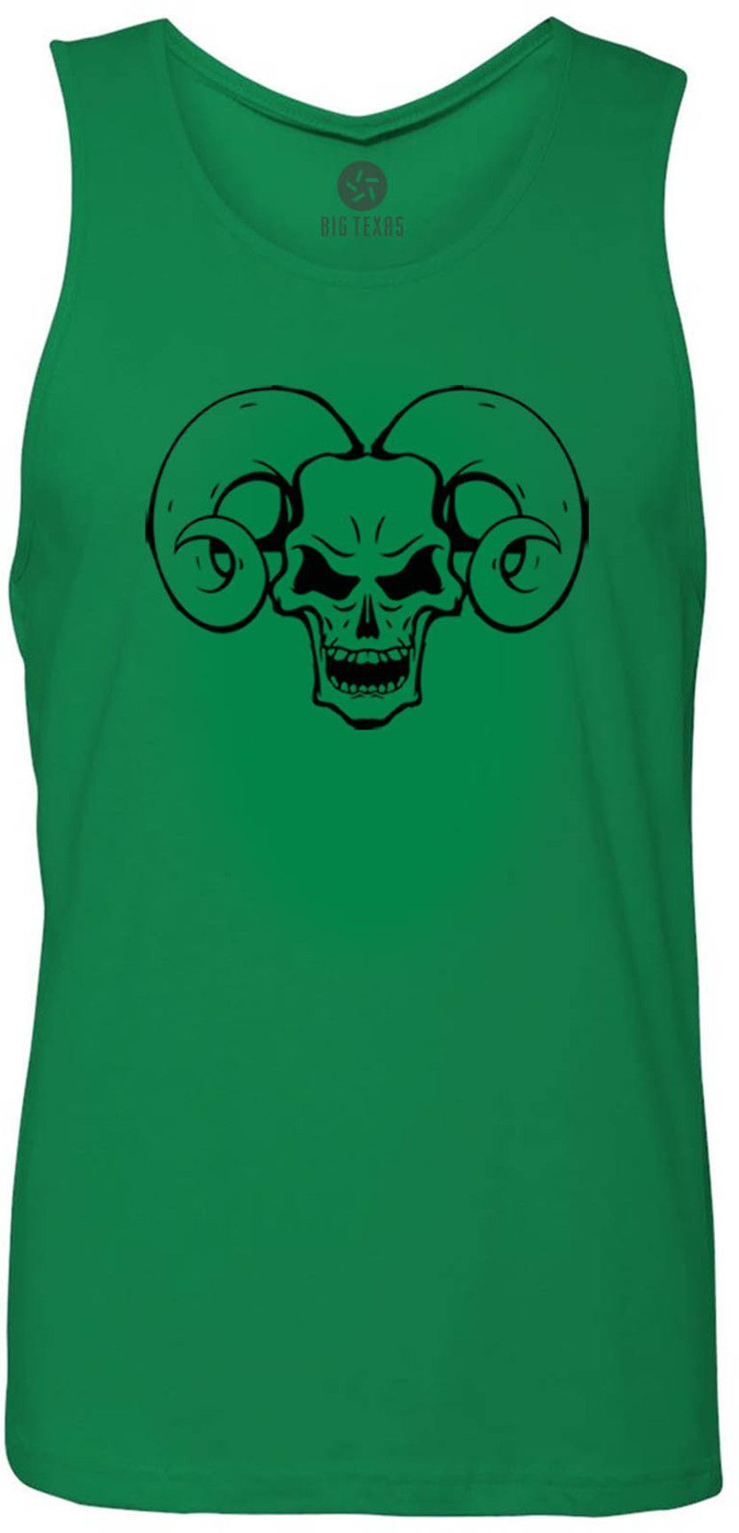 Ram Skull (Black) Tank-Top T-Shirt