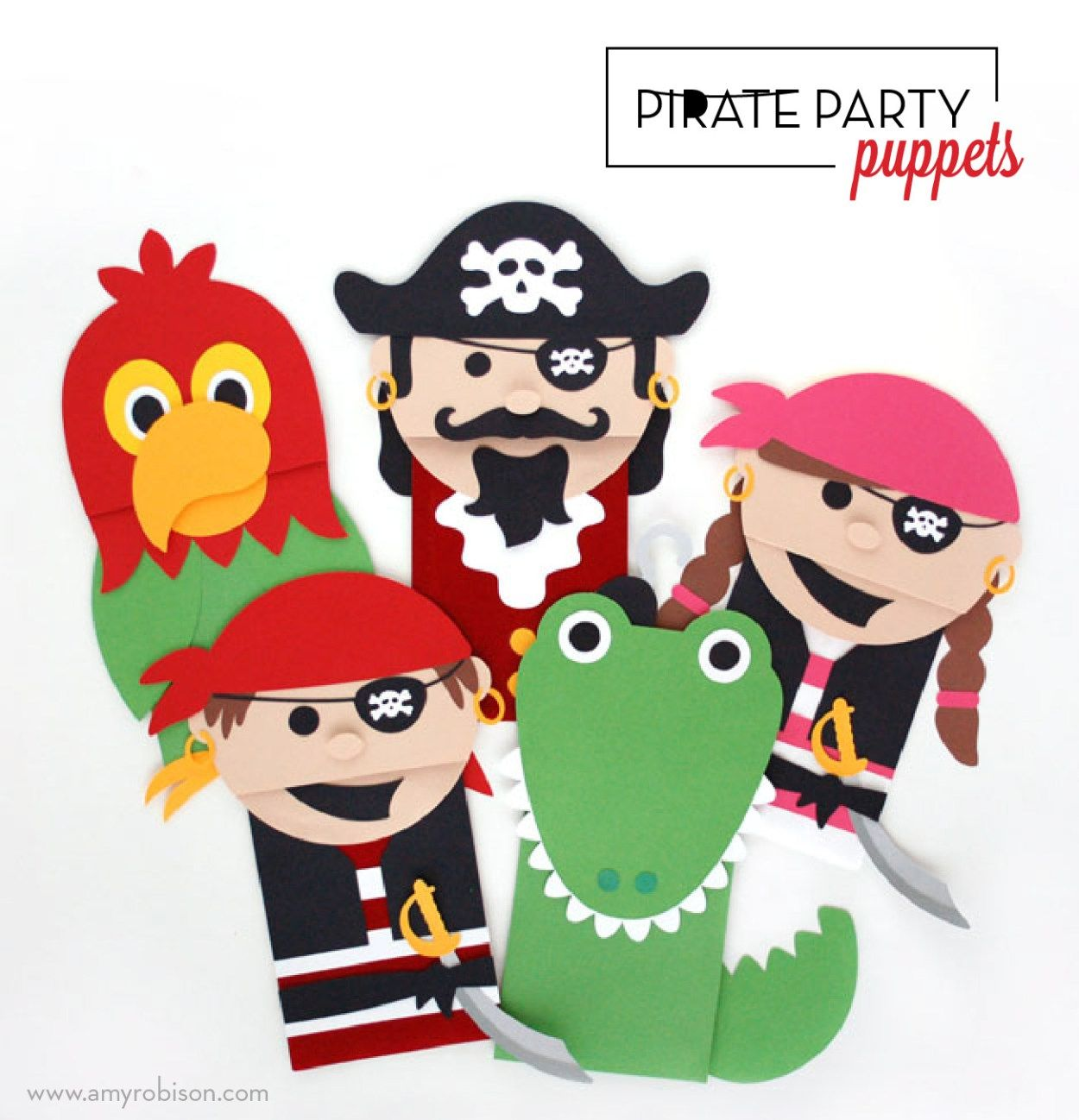 Pirate Party Puppets