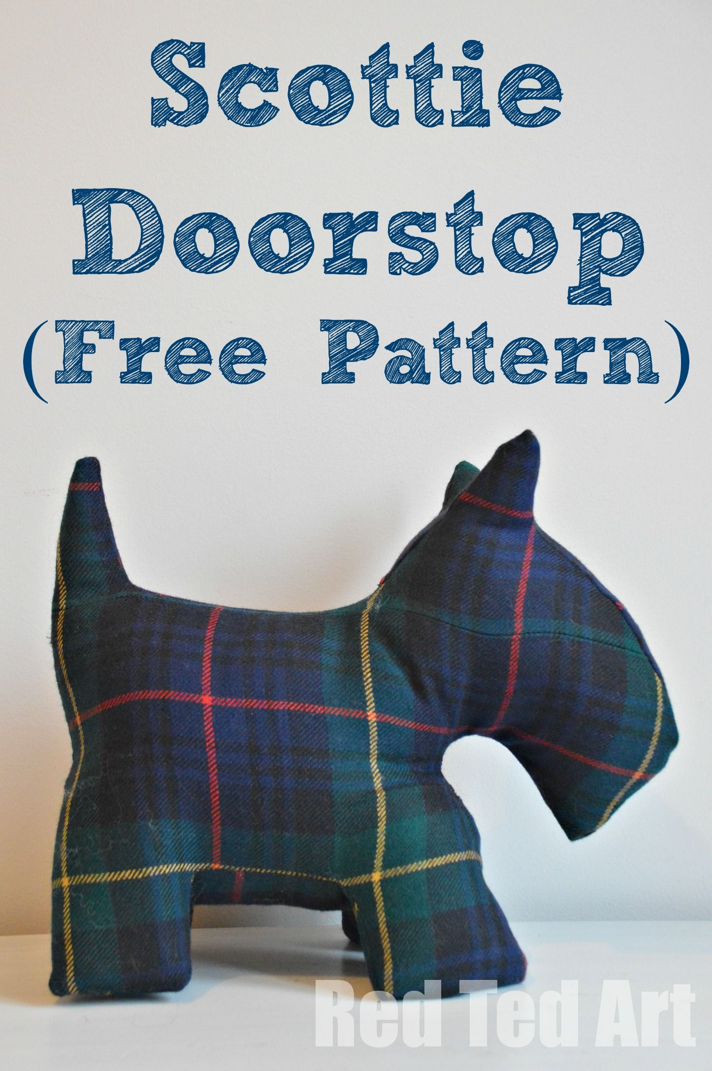 Scottie Door Stop Amp Free Dog Patterns Sewing Projects