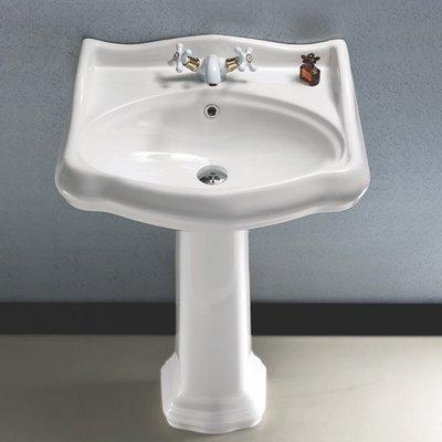 Cerastyle By Nameeks 1837 Ceramic 23 7 Bathroom Pedestal Sink