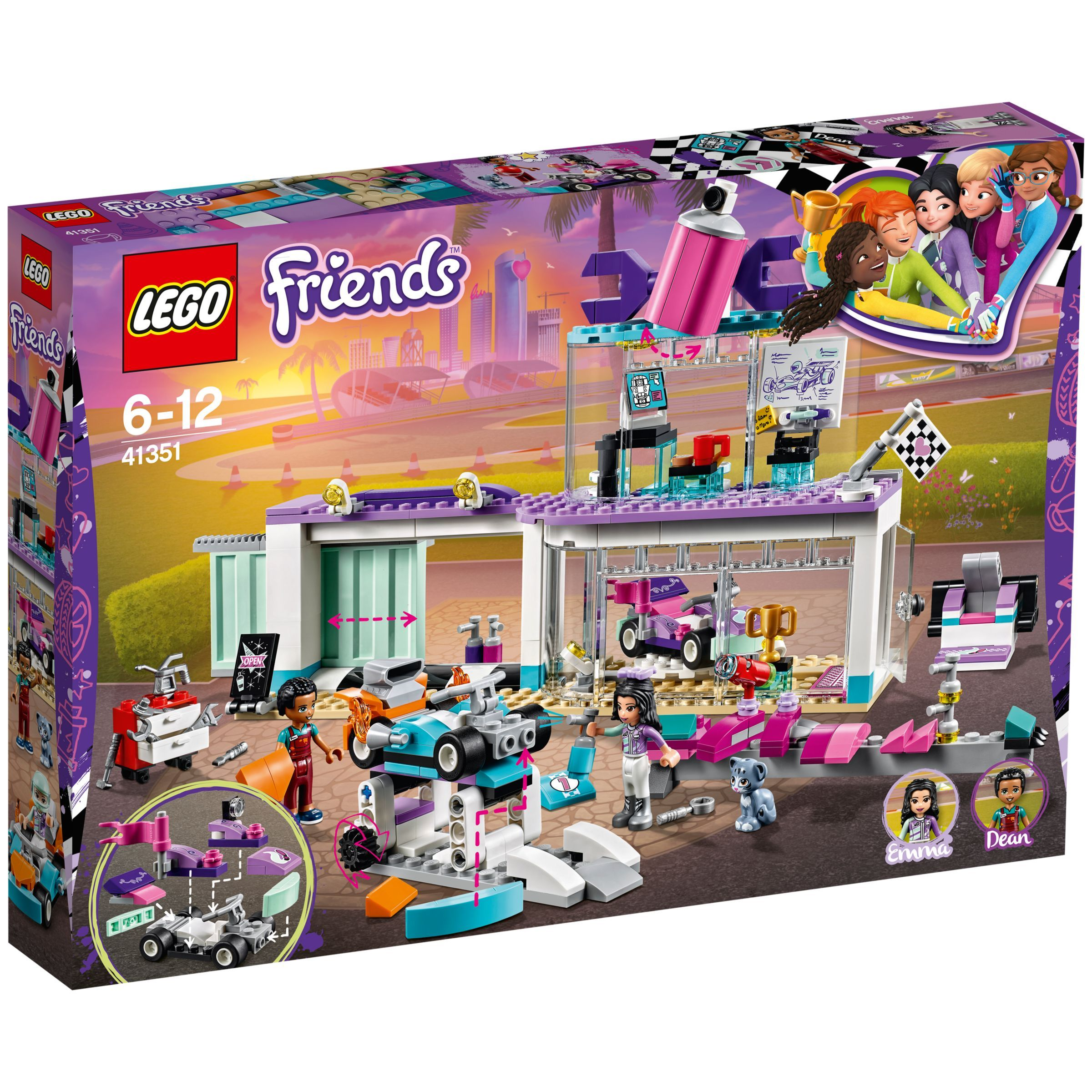 LEGO Friends 41351 Creative Tuning Shop | Lego friends, Lego, Creative