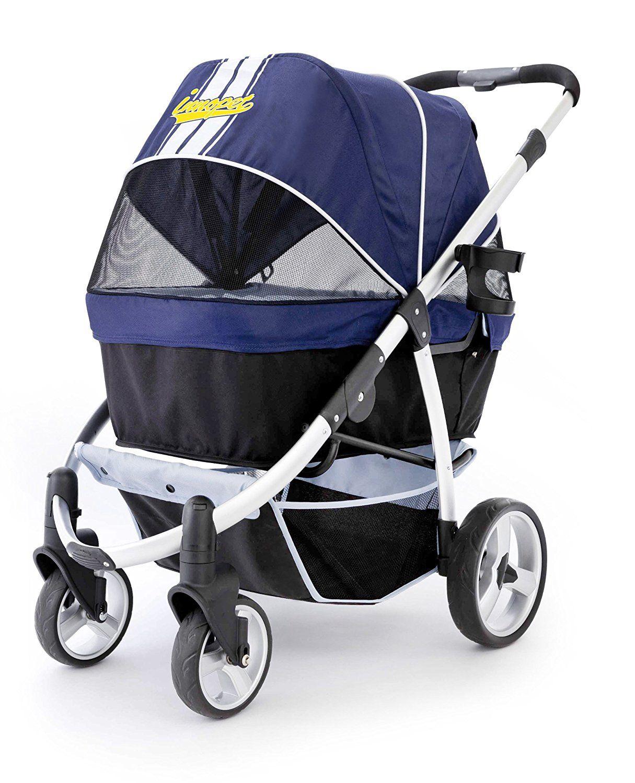 Pet Stroller,IPS06/NavyBlue, dog carrier, trolley