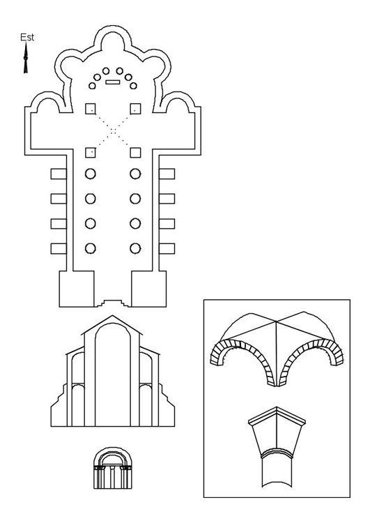 Dibujo para colorear Iglesia románica | jose | Pinterest | Dibujos ...