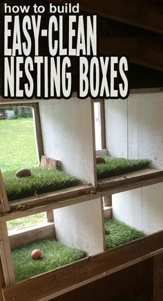 to create a safe, comfortable, and easy to clean nesting box in your chicken…