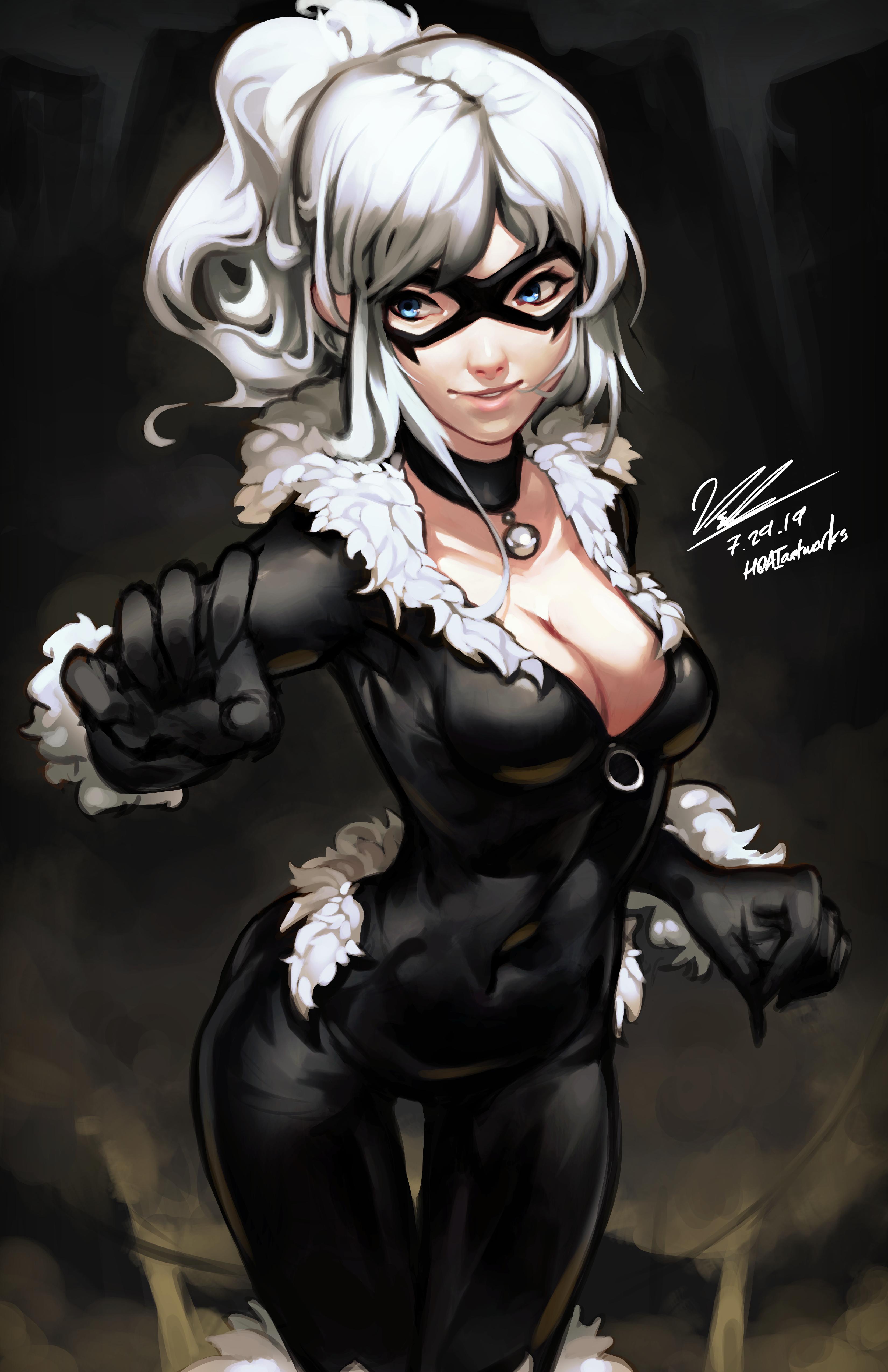 Black Cat By Hoaiartworks On Deviantart Black Cat Marvel Spiderman Black Cat Marvel Comics Art