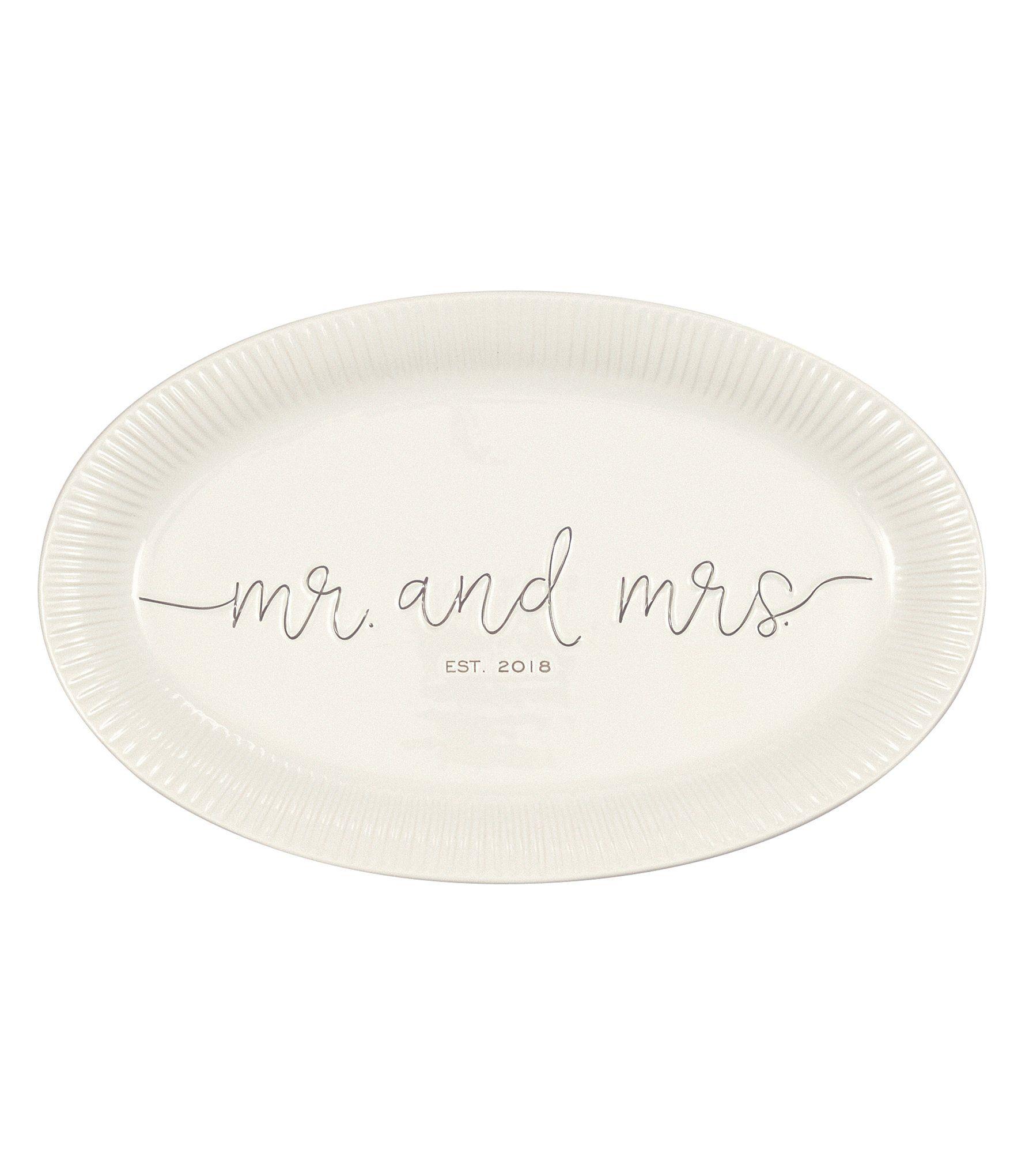 Mud Pie Mr and Mrs Est 2018 Wedding Platter #Dillards