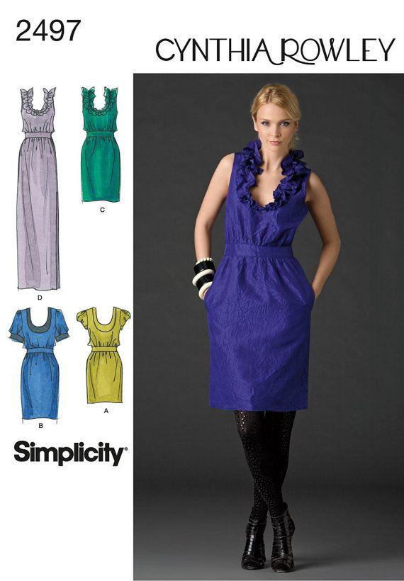 Simplicity Pattern 2497 / 0490 Cynthia Rowley Dresses in Three ...