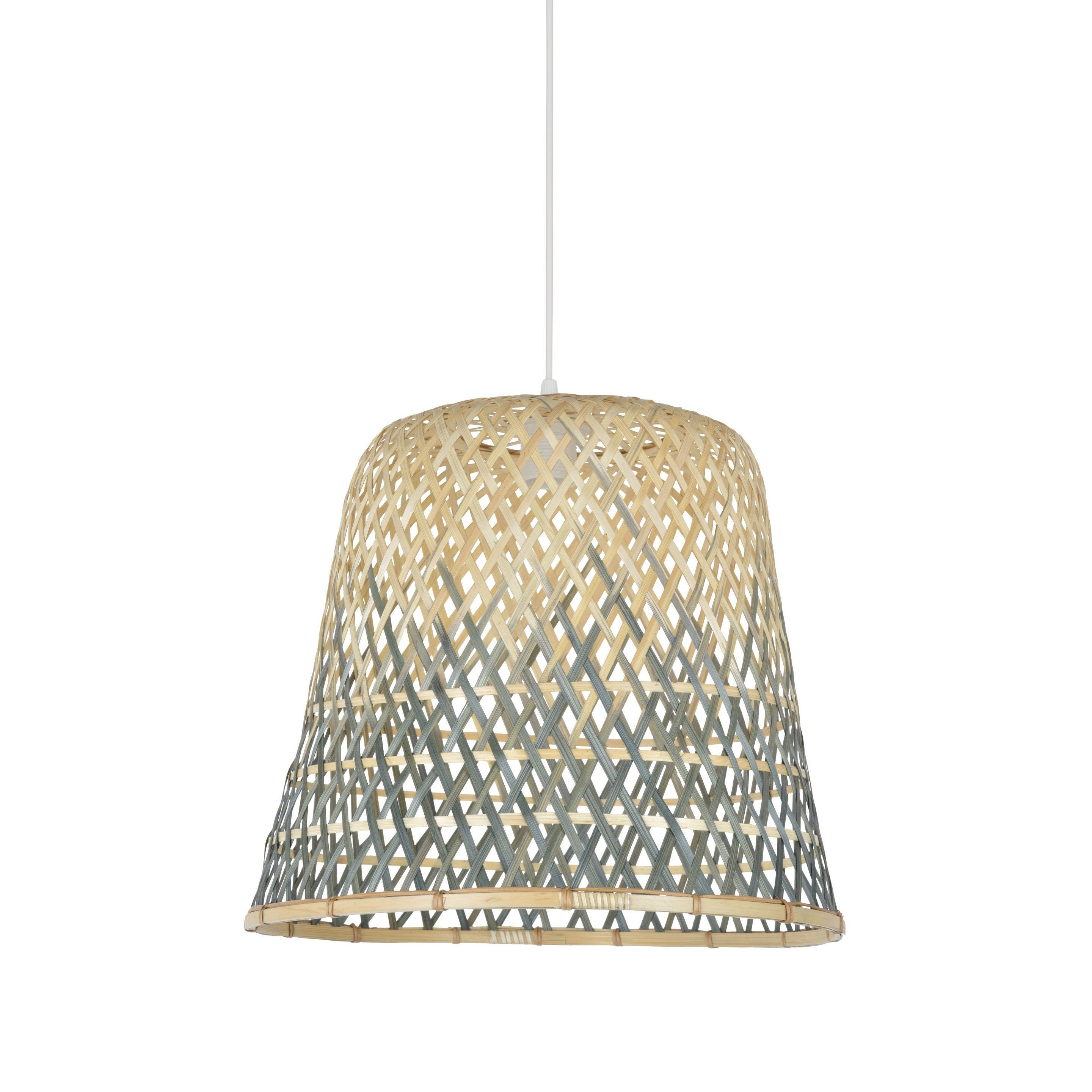 Suspension Nature Bambou Naturel Gris Corep Macao 1